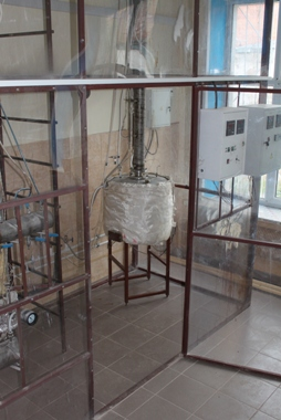 Experimental unit for studying distillation processes in the real environments (R-100)