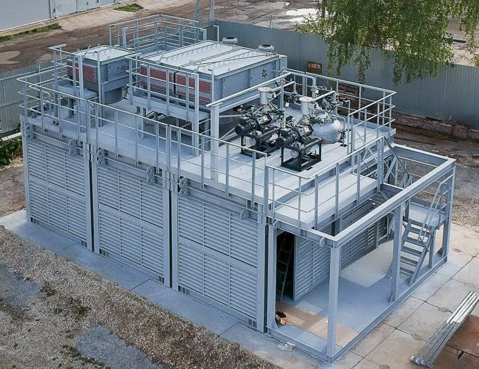 Block-modular unit for vacuum distillation of gas oil (for Malaysia) - external view