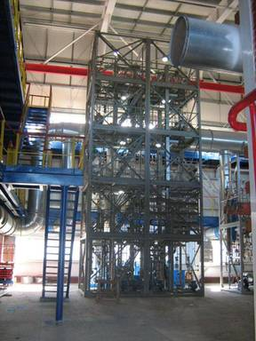 Pilot unit for regeneration of solvents used at production of ethylene propylene rubbers