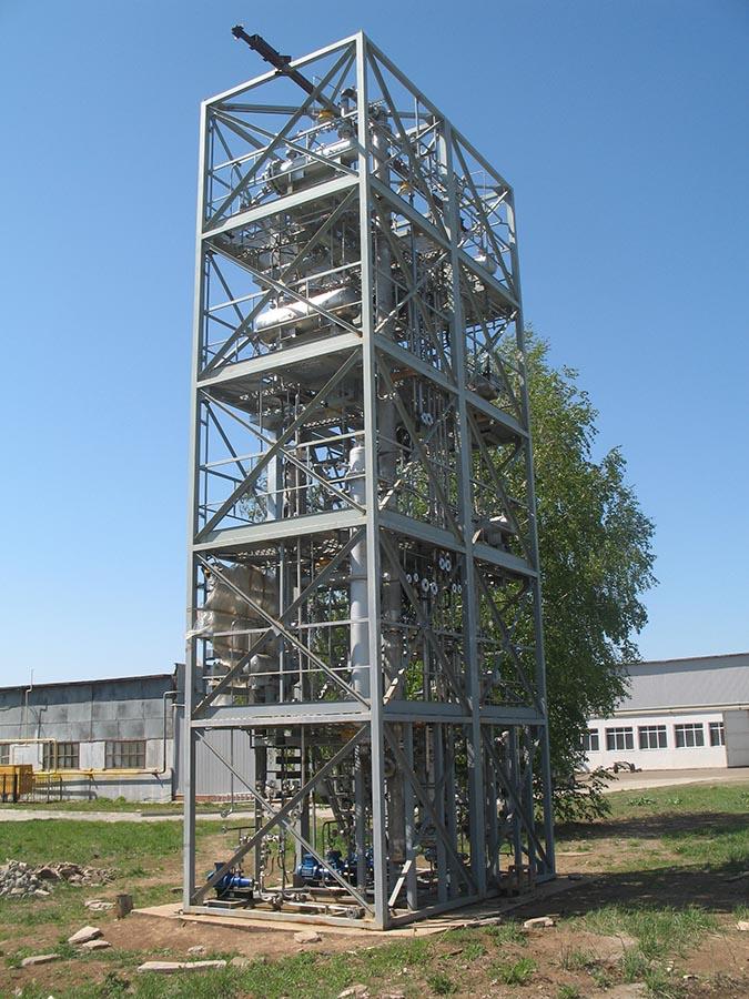 Пилотная установка регенерации растворителя для производства СКЭПТ