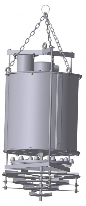 Fig. 1. Loader device for uniform loading with bulk solids